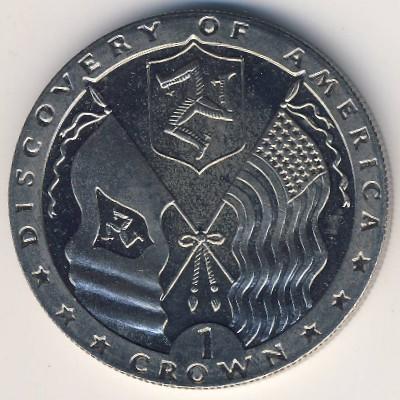 Остров Мэн, 1 крона (1992 г.)