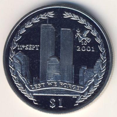 Виргинские острова, 1 доллар (2011 г.)