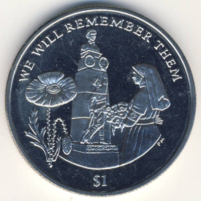 Виргинские острова, 1 доллар (2014 г.)