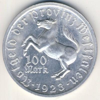 Вестфалия., 100 марок (1923 г.)