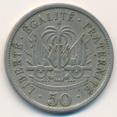 Гаити, 50 сентим (1908 г.)
