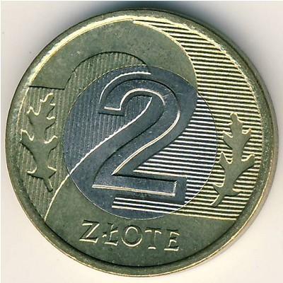 Польша 2 злотых 1995 года цена нумизматика цены на купюры россии каталог