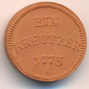 Ульм., 1 крейцер (1922 г.)