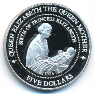 Новая Зеландия, 5 долларов (1994 г.)
