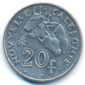 Новая Каледония, 20 франков (1990 г.)
