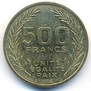 Джибути, 500 франков (1991 г.)