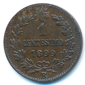 Италия, 1 чентезимо (1899 г.)