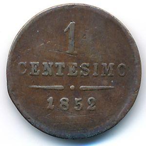 Ломбардия-Венеция, 1 чентезимо (1852 г.)