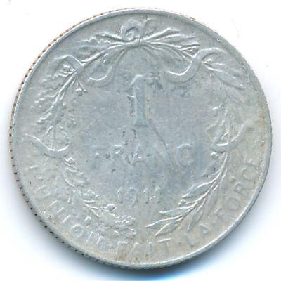 Бельгия, 1 франк (1911 г.)