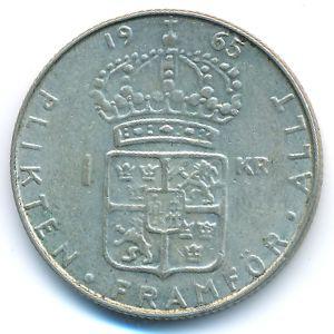 Швеция, 1 крона (1965 г.)