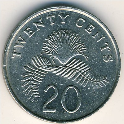 Singapore Coin Picture on Coins Catalog   Singapore  20 Cents  Km 101   Numismatics With Global