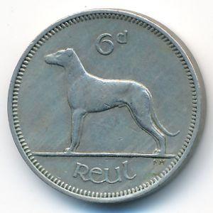Ирландия, 6 пенсов (1961 г.)