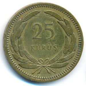 Турция, 25 куруш (1956 г.)
