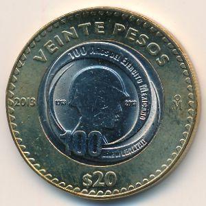 Мексика, 20 песо (2013 г.)