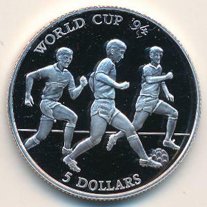 Острова Кука, 5 долларов (1991 г.)