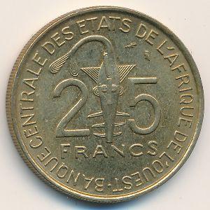 Западная Африка, 25 франков (1971 г.)