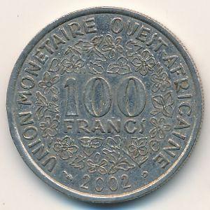 Западная Африка, 100 франков (2002 г.)