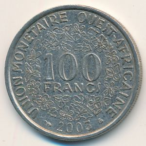 Западная Африка, 100 франков (2003 г.)