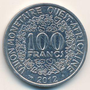 Западная Африка, 100 франков (2012 г.)
