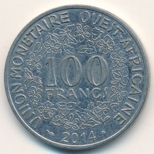 Западная Африка, 100 франков (2014 г.)