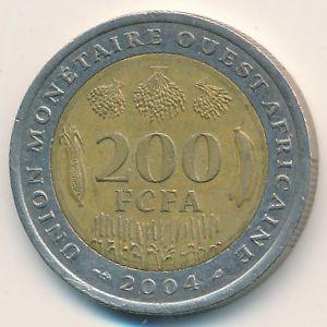 Западная Африка, 200 франков (2004 г.)