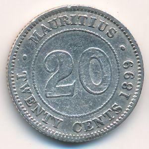 Маврикий, 20 центов (1899 г.)