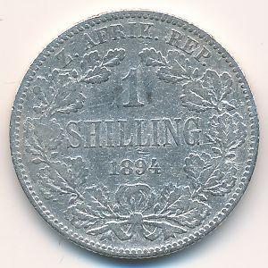 ЮАР, 1 шиллинг (1894 г.)