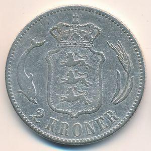 Дания, 2 кроны (1875 г.)