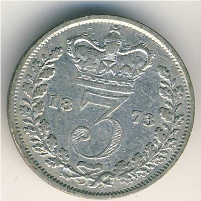 Great Britain, 3 pence, 1838–1887