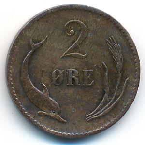 Дания, 2 эре (1875 г.)