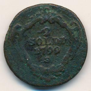 Гориция, 2 сольдо (1799 г.)