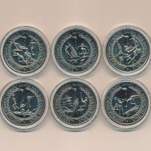 Теркс и Кайкос, Набор монет (1992 г.)
