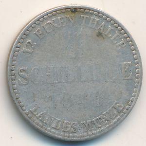 Мекленбург-Штрелиц, 4 шиллинга (1846 г.)