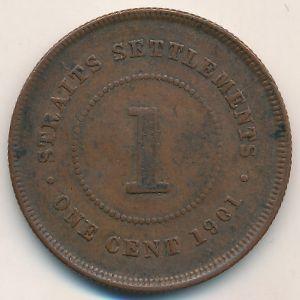 Стрейтс-Сетлментс, 1 цент (1901 г.)