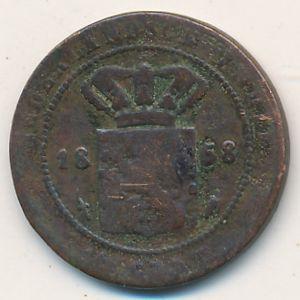 Нидерландская Индия, 1/2 цента (1858 г.)