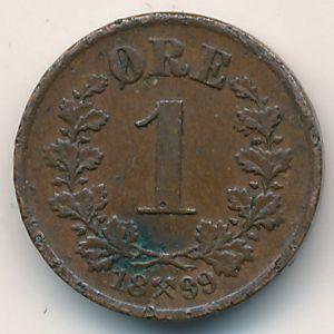 Норвегия, 1 эре (1899 г.)