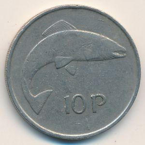 Ирландия, 10 пенсов (1974 г.)