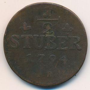 Юлих-Берг, 1/2 стюбера (1794 г.)