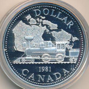 Канада, 1 доллар (1981 г.)