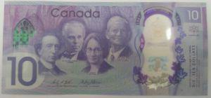 Канада, 10 долларов (2017 г.)