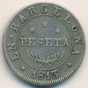 Барселона, 1 песета (1813 г.)