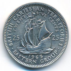 Восточные Карибы, 25 центов (1965 г.)