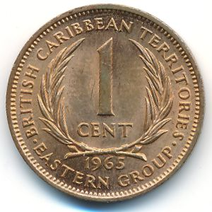 Восточные Карибы, 1 цент (1965 г.)