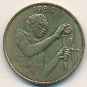 Западная Африка, 25 франков (1984 г.)