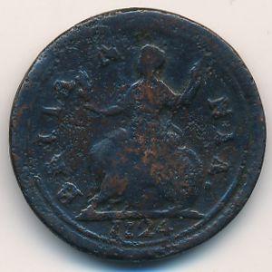 Великобритания, 1 фартинг (1724 г.)