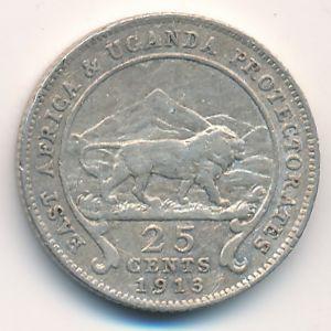 Восточная Африка, 25 центов (1913 г.)
