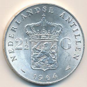 Антильские острова, 2 1/2 гульдена (1964 г.)