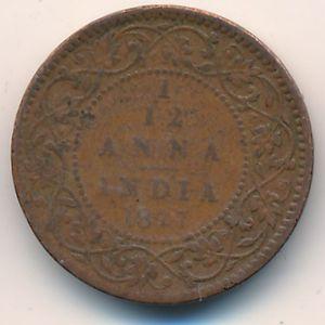 Британская Индия, 1/12 анны (1877 г.)