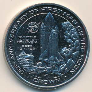 Остров Мэн, 1 крона (1999 г.)