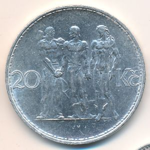Чехословакия, 20 крон (1933 г.)